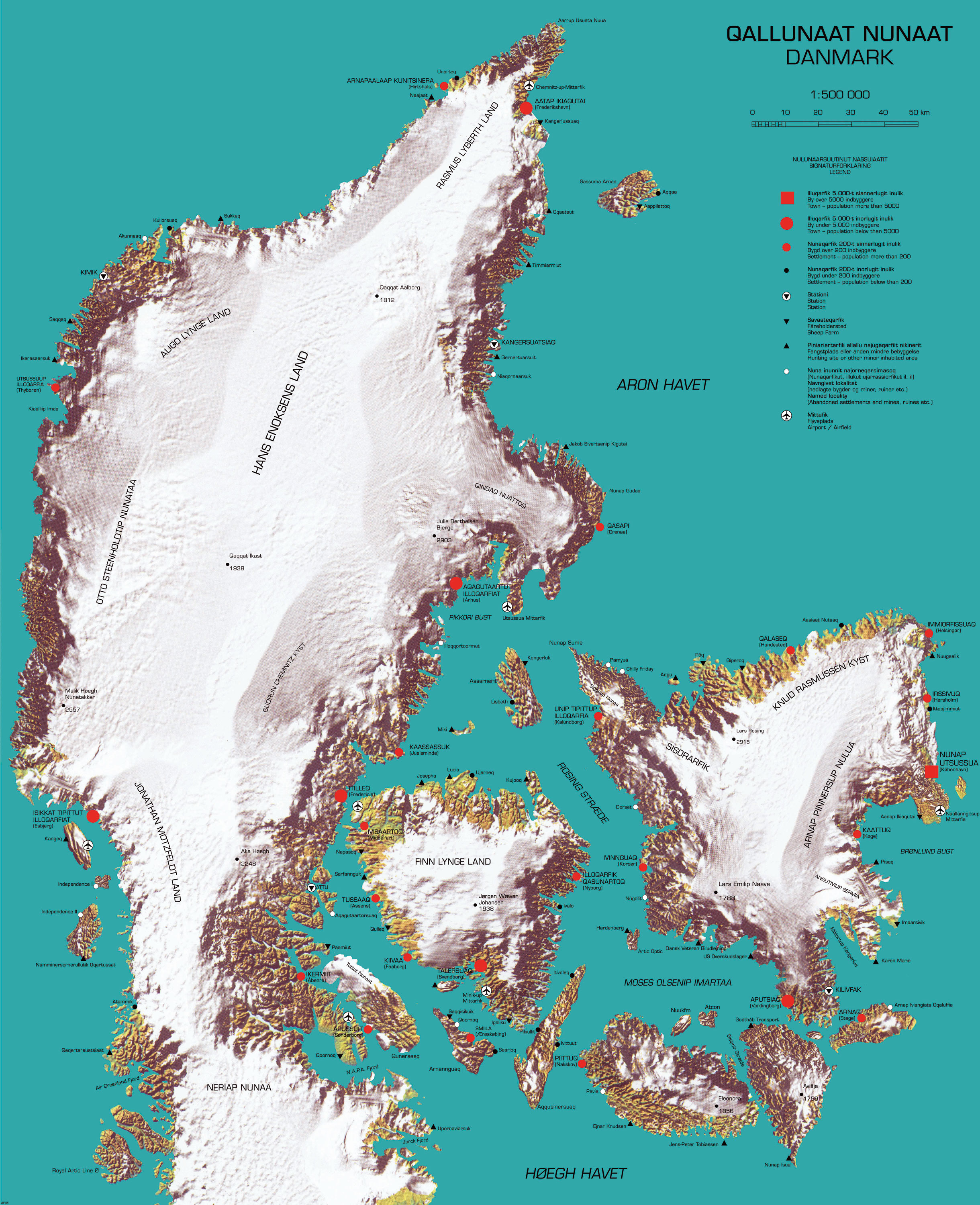 Map of the week map of the week reverse colonialism the map pictures denmark being colonized by greenland not just by the people but also by climate and topography gumiabroncs Image collections